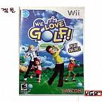 [Wii] WELOVEGOLF 북미발매 중고상품 상태 A급