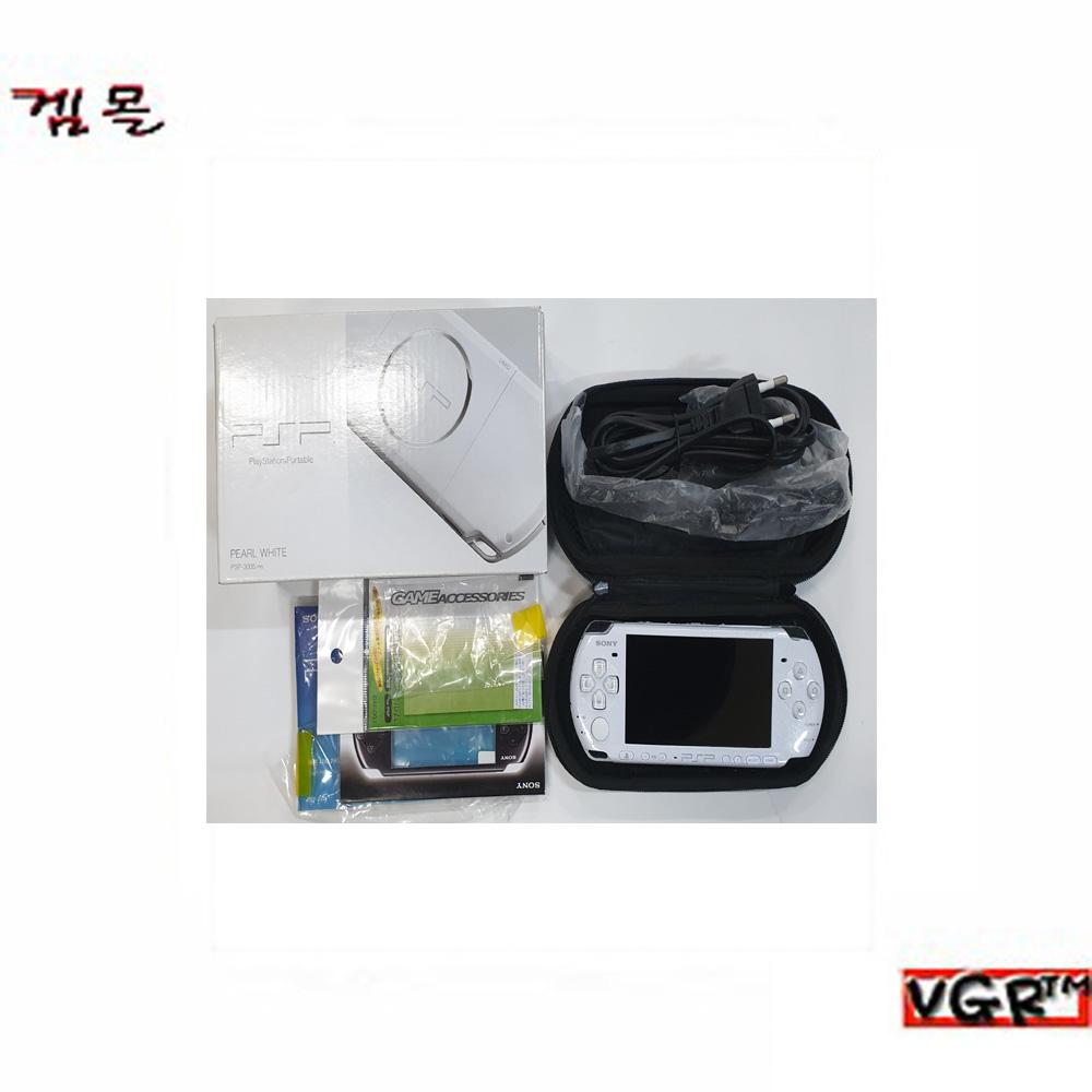 [psp] PSP-3005 펄화이트 8GB 박스셋 A급 (정발)(중고)